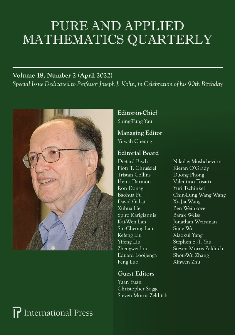 Pure and Applied Mathematics Quarterly