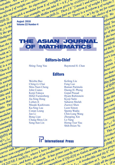 Asian Journal of Mathematics