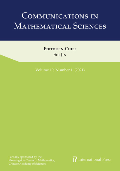 Communications in Mathematical Sciences
